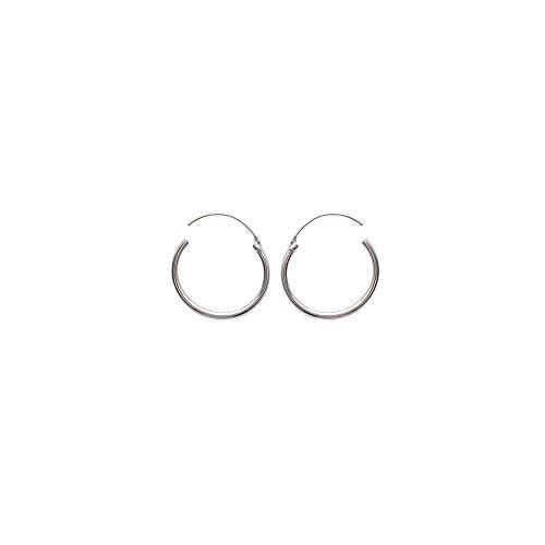 Créoles Argent Femme - Diam:20mm / Larg:20mm - Argent 925/000 (Créoles / Rond)
