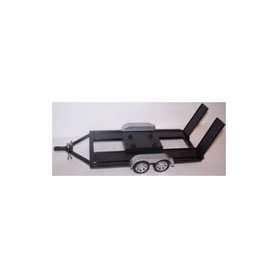 Motormax 1/18 Scale Diecast Metal Trailer for 1/18 Scale Diecast Cars in Color Black by Motormax: Toys & Games