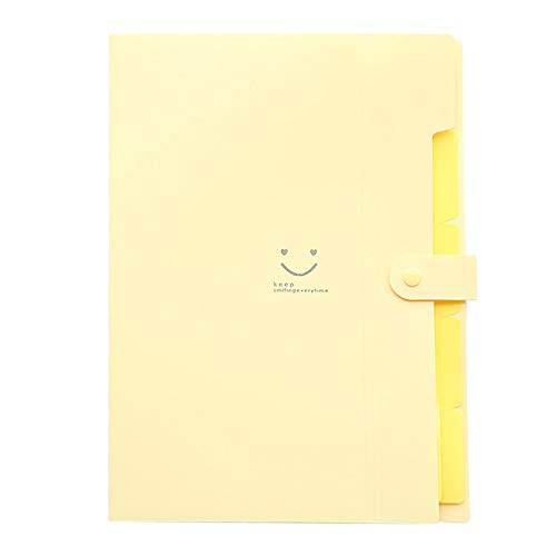 Funnygals - Expanding File Folders Letter A4 Paper Pockets Wallet Accordion Document Organizer School Office Folder
