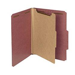 Letter Folders Pressboard Classification (Smead 100% Recycled Pressboard Classification File Folder, 1 Divider, 2