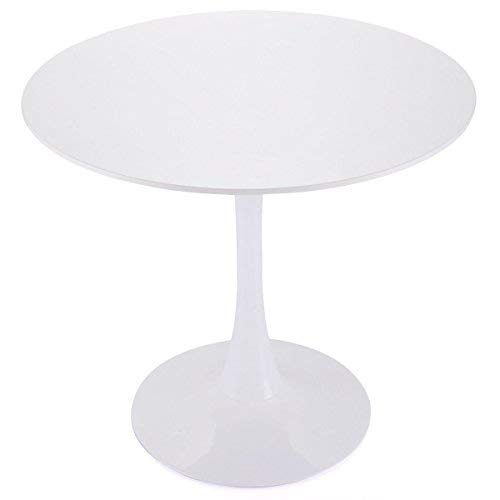 "Tobbi 32"" Inch Round Tulip Dining Table Coffee Table in White Elegant Furniture"