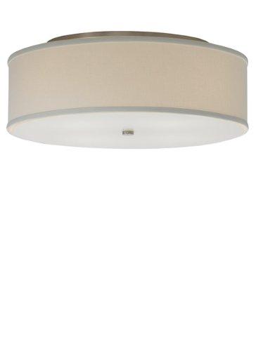 White Tech Lighting (Tech Lighting 700TDMULFMLWS, Mulberry Ceiling, Large Flush Mount, White/Satin Nickel)