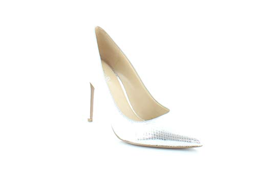 MICHAEL Michael Kors Womens Claire Pump Leather, Metallic Embossed, Size 7.0
