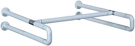 MXZBHBaranda de baño de Acero Inoxidable, Lavabo de Plataforma Cruzada, agarrador de Inodoro de baño Antiguo (Color: Blanco, tamaño: sin Patas)