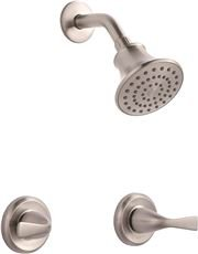 """Premier 3552604 Sanibel Two-Handle Shower-Only Faucet, Brushed Nickel, 7.384"""" x 7.384"""" x 7.384"""""""