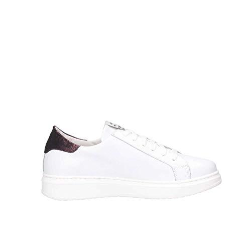 Donna Méliné Sneakers Pelle Cst121white Bianco 4c7gwq5p