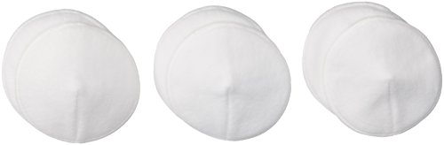 Loving Moments by Leading Lady Women's Extra Absorbent Washable Cotton Nursing Pads 6-Pack, White, OS