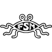 (FSM Flying Spaghetti Monster Chrome Magnet - 5.5