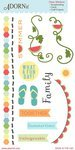 Carolee's Creations - Adornit - Summertime Memories Collection - Clear Stickers - Fun Day