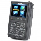 "SatLink WS-6922 Rechargeable 3.5"" Color Screen HD Satellite Finder w/ AV / USB - Black"