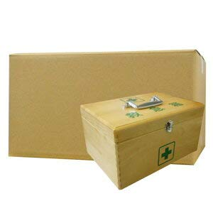 LE木製救急箱S(衛生材料セット付)×12セット   B07PZK3FC4