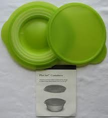 Tupperware Flat Out Flex Bowl 3 Cup Lime Green, Set of Two