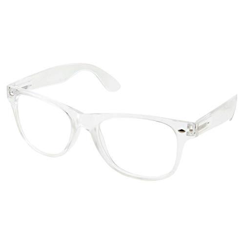 (grinderPUNCH Crystal Clear Frame Lens Transparent Sunglasses Eyeglasses 2 Pack)