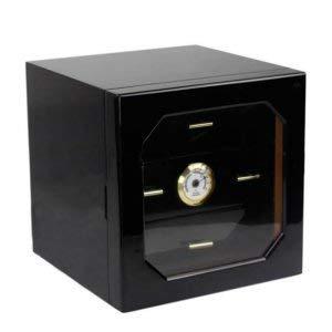 Pevor Black humidor Cigar Cabinet high-Quality Multiple Lacquer Finish Cedar Wood 3 Cigarette Storage Box case Lighter by Pevor (Image #1)