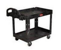6069566 Cart Utility 2Shelf Black Ea Rubbermaid -FG452088BLA