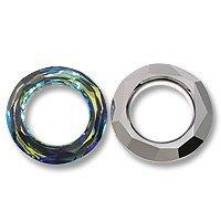 Swarovski Cosmic Ring Component 4139 20mm Crystal Bermuda Blue (Package of 6) 4139 20mm Cosmic Ring Crystal