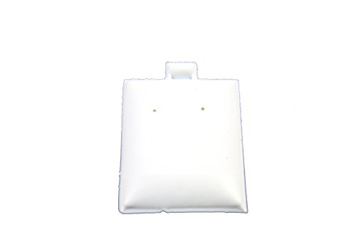 (Regal Pak ® White Plain Plasic Puff Pad Earring Card (100 Pieces In A Pack) 1 1/2