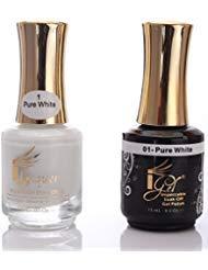 (iGel Beauty Impeccable Soak Off GEL Polish+ LACQUER Duo Set 190 Beautiful Colors (001 Pure)