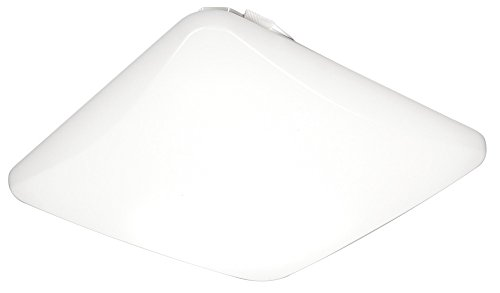 Lithonia Lighting FMLSDL 20 35840 M4 20-Inch Dimmable LED Square Flush Mount, ,4000 Lumens, 120 Volts, 44 Watts, Damp Listed White
