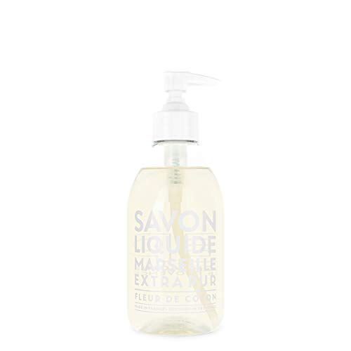 Compagnie de Provence Savon de Marseille Extra Pure Liquid Soap - Cotton Flower - 10 Fl Oz Plastic Pump Bottle