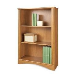 Realspace(R) Dawson 3-Shelf Bookcase, Canyon Maple