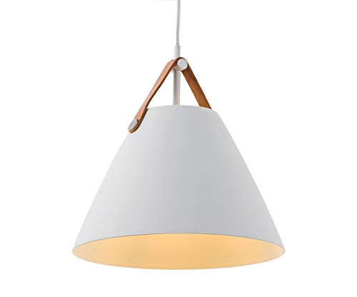 Nordic Light Minimalism Lamp Simple Design Pendant Light (White, Medium (¢-360 H-350))