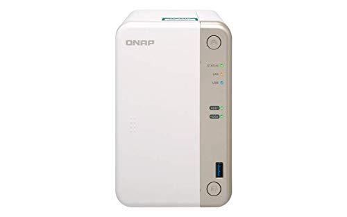 QNAP TS-251B NAS Torre Ethernet Blanco - Unidad Raid (Unidad de Disco Duro, SSD, Serial ATA III, Serial ATA III, 2.5,3.5