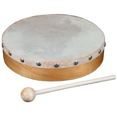 World Percussion HDR8 8In. Wood Hand Drum W/ Head