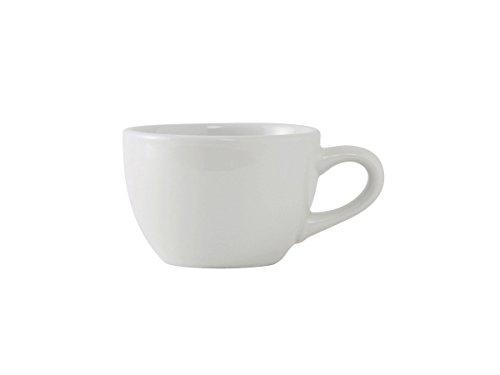 Vitrified Ceramic Mug - Tuxton ALF-0752 Vitrified China Alaska/Colorado Accessories Round Cup, 8 oz, Porcelain White (Pack of 36),