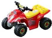 HOMCOM Quad Bateria 6V Moto Eléctrica Infantil Niños 3 años Velocidad 2.5 Km/h Carga Máx 20 Kg Sonido Luces Cargador Incluido