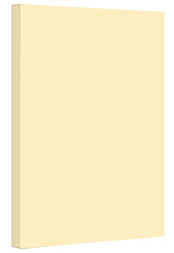 9 x 12 inches Colored Cardstock Paper 67lb, Vellum Bristol - 50 Sheets per Pack. (Ivory)