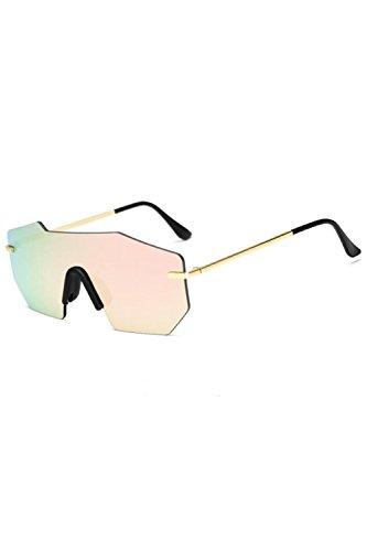 Marco Gafas De Vintage De Metal Sol Polarizadas Pink UV400 Hombres Gafas 47q0dq