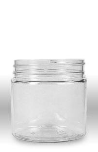 8 Ounce Jars Pack - Plastic Wide Mouth Jar with Pressurized Lid Pack of 12 (8oz) Crystal Clear Container with White Cap
