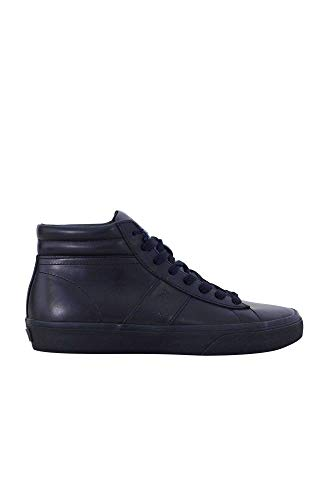 Polo Ralph Lauren Uomo - Sneakers alla Caviglia in Pelle Nera - Numero 46