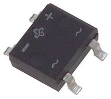 VISHAY GENERAL SEMICONDUCTOR MB6S-E3/80 BRIDGE RECTIFIER, 1PH, 500mA, 600V, TO-269AA-4 (100 pieces)