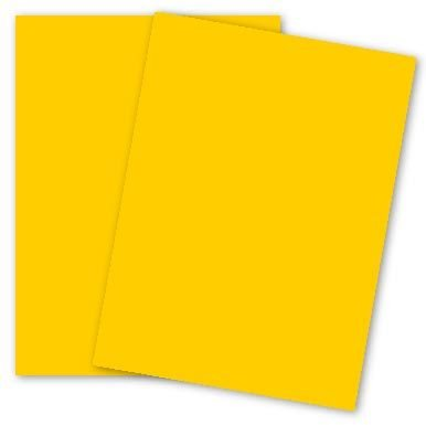 Mohawk 103895 BriteHue Multipurpose Colored Paper, 24lb, 8 1/2 x 11, Gold, 500 Sheets ()