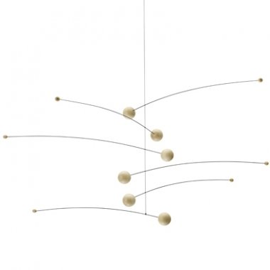 Futura Nature/Nature Hanging Mobile - 30 Inches Beech Wood - Handmade in Denmark by Flensted Flensted Mobiles