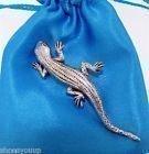 Lézard Gecko) (finement travailléà la main dans le Royaume-Uni en étain massif-Gifts Épinglette