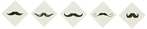 Fun Express Fingerstache Movember Mustache Party Tattoos (72 -