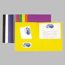 Two Pocket Portfolios, Assorted Color, 25 folders, Color Vary