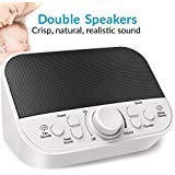 Product review for White Noise Machine, LATOW Womb Sound Machine for Baby Sleeping, Portable Sleep Therapy 28 Non-Looping Sounds for Kids Adults Home Office Travel, 2 Speakers,HeadsetJack, DC Output and Timer Sound Spa