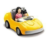 (Chevron Cars Classic, The Autopia Cars, Disneyland, 2 Piece Set, Yellow Car with Removable Toy)