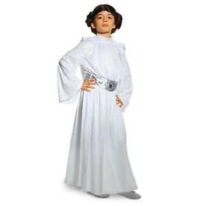 DISNEY STORE STAR WARS DELUXE PRINCESS LEIA COSTUME WHITE BUN WIG - GIRLS (11/12)