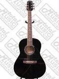 Giannini GS-36 BK 3/4-Size Steel String Acoustic Guitar with Linden Top, Rosewood Fingerboard, Black