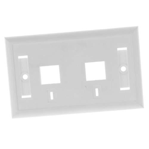 Baosity 120MM Wall Plate Dual Port Network LAN Socket Outlet Panel Combo