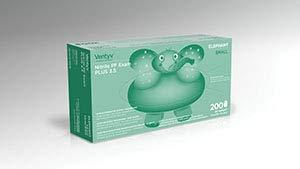 Ventyv Nitrile Powder Free Exam Glove Plus 3.5 (Elephant), Violet Blue, Small 10334101