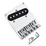 Ocama 6 Saddle Guitar Bridge Pickup with Screws for Fender Telecaster Guitar Replacement,1 ()