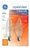 Tools & Hardware : GE Lighting 12165 2PK40W CLR Blunt Bulb