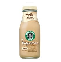 Starbucks Frappuccino Vanilla 9.5 ounce glass bottles. 15 count per case by Starbucks