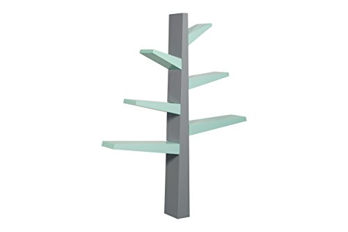 Babyletto Spruce Tree Bookcase  Grey Cool Mint